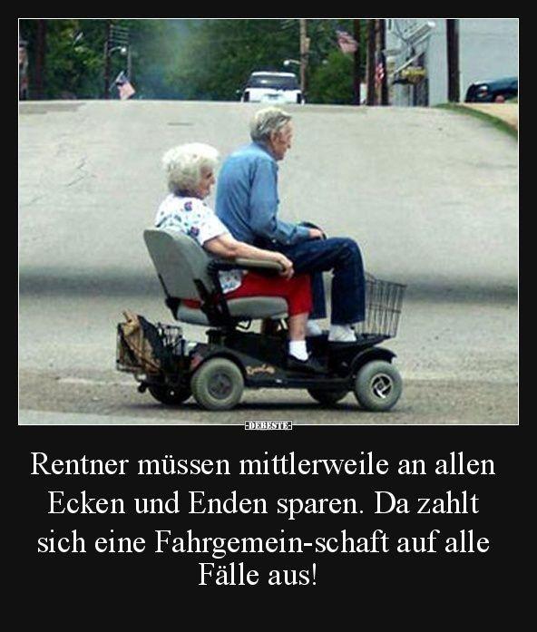 Rentner Sprüche Witze