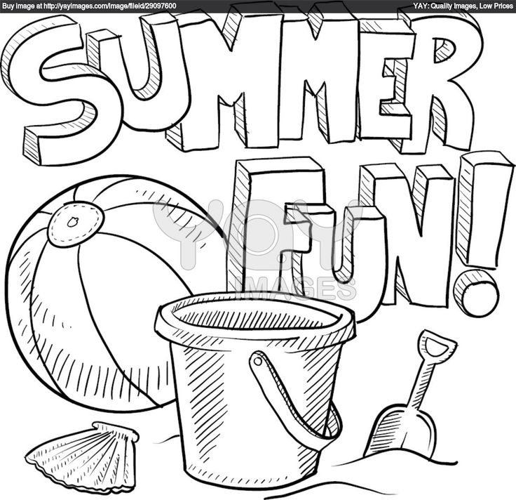 Vector Of Summer Fun Sketch   Doodle Style Sketch Of Summer Fun .