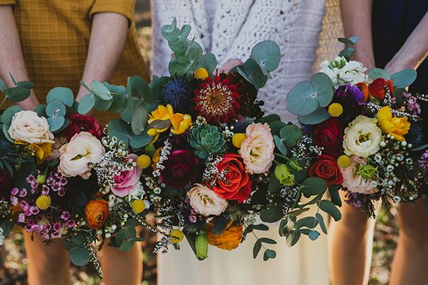 HAYLEY + GERARD // #wedding #flowers #bouquet #bride #bridesmaid #natives #gum #bright #colourful #fun #canberra #cool