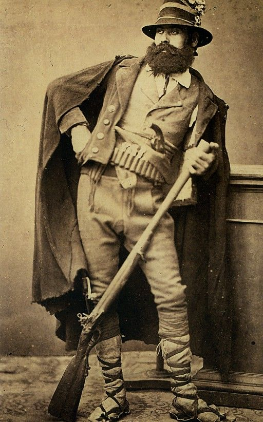 Italian briganti, brigand or highwayman.