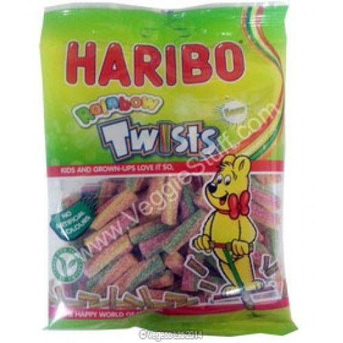 Haribo Vegetarian Sour Rainbow Twists 150g