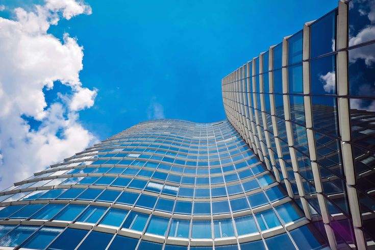#abstract #architecture #building #city #dsseldorf #facade #glass #glass facade #glass front #home #lichtspiel #low angle shot #modern #modern architecture #office building #reflection #skyscraper #urban #window