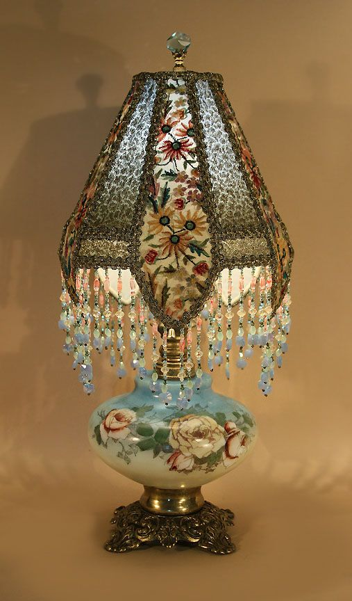 542 Best Antique Lamp Shades Images On Pinterest