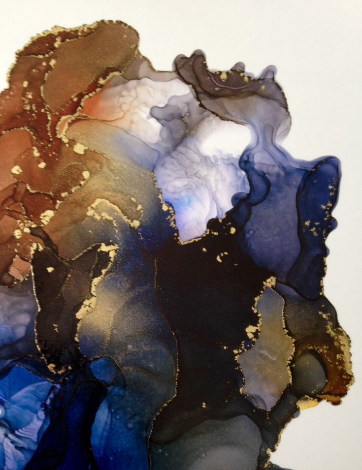 Abstract alcohol ink painting by Linda Crocco Studio