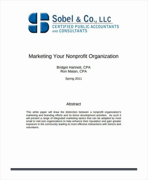 Non Profit Marketing Plan Template Inspirational 7 Non Profit Marketing Plan Templates Marketing Plan Template Nonprofit Marketing Plan Marketing Plan Example
