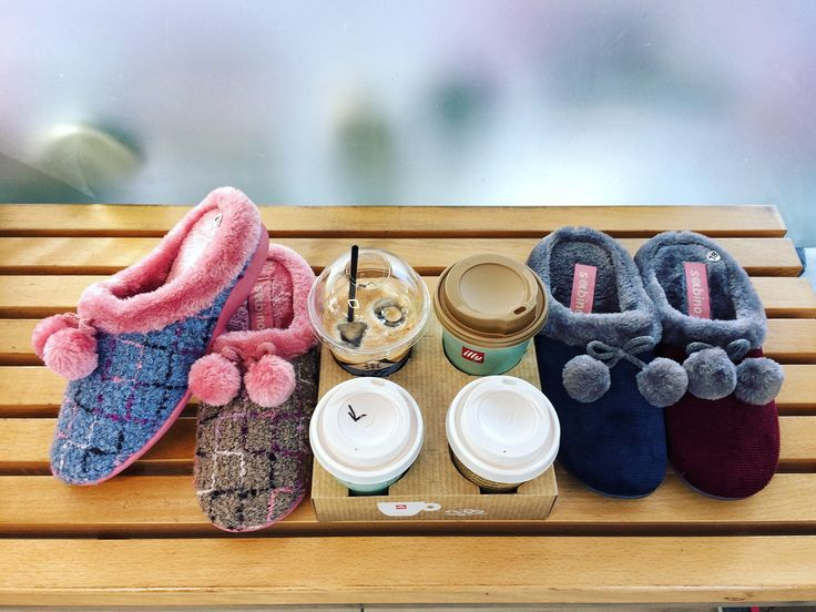 Coffee & Confidence @ Chionidis Slippers Store. Sabino for Women Winter collection 2016-17