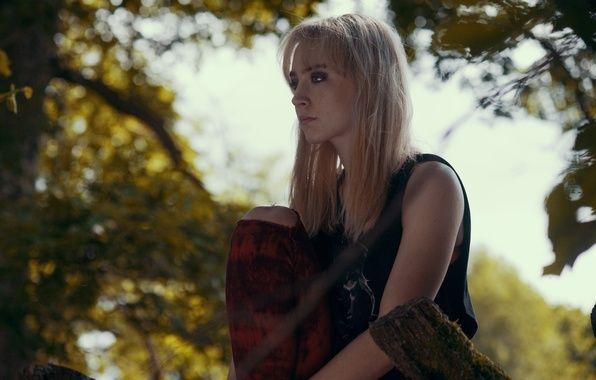 Wallpaper Saoirse Ronan, Saoirse Ronan, blonde, actress, trees ...