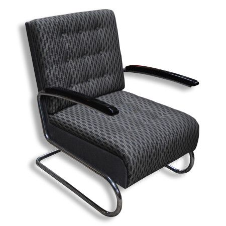 Chrome chair - Manufacture: Thonet, Model S 411 Restored.