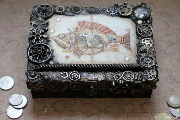 Делаем бюджетную копилку в стиле «Стимпанк» - Ярмарка Мастеров - ручная работа, handmade