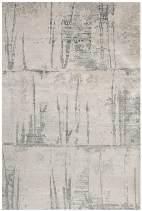 Tibetan Grey Knotted Wool Rug Safavieh