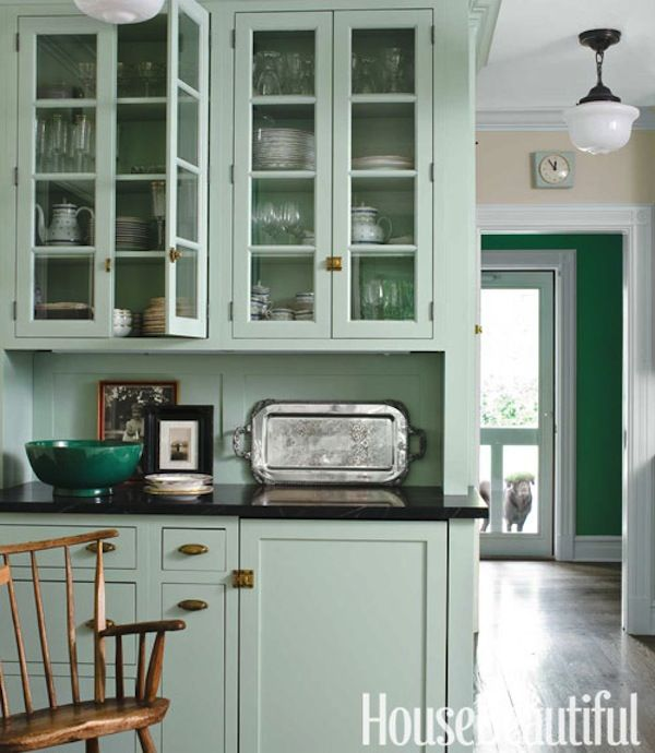 Painted kitchen cabinets brass hardware dream kitchen for Kitchen ideas house beautiful