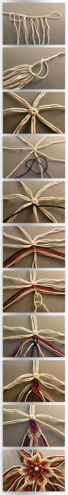 Ook een handige basis om bijvoorbeeld touw om een fles te knopen net als een hooinet.