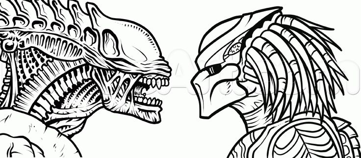 Line Drawing Vs Mass Drawing : Alien tattoo line drawing google search