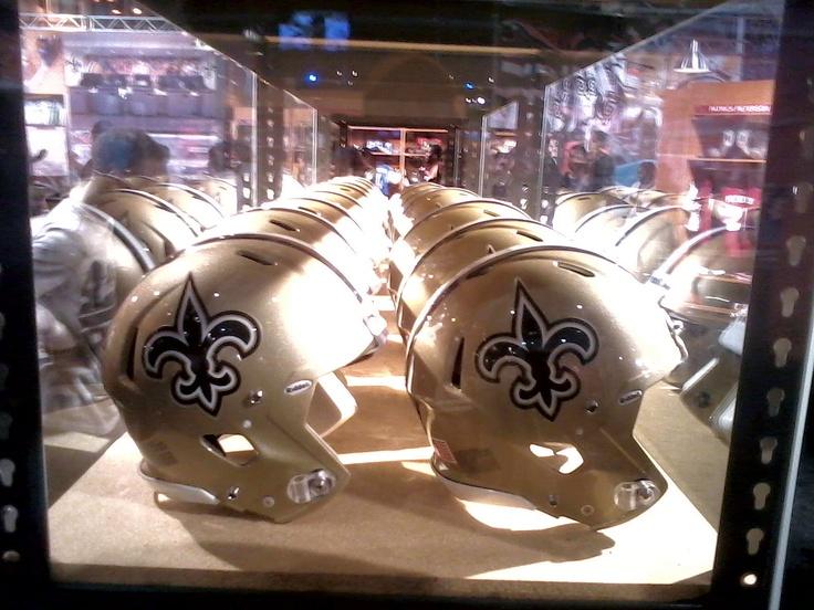 NFL Experience: Super Bowl New Orleans Saints Display #NFL #Saints