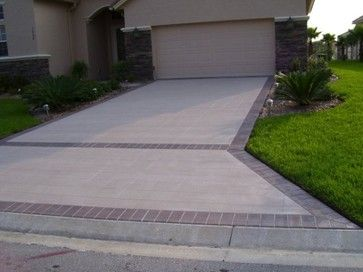 Concrete Driveway Design Ideas stamped concrete driveway idea Concrete Driveway Lastiseal Concrete Stain Sealer Traditional Garage And Shed
