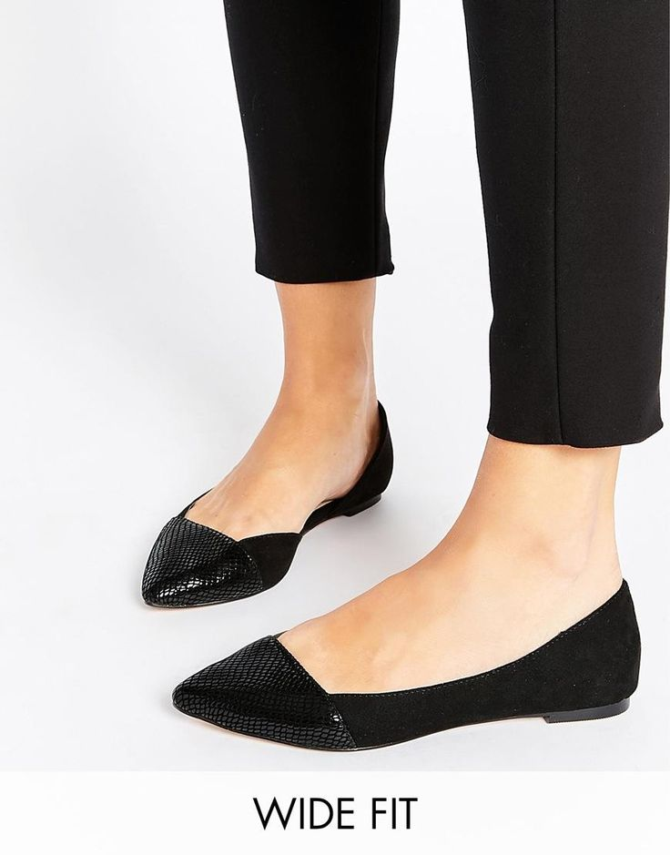 ASOS | ASOS LOOK BACK Wide Fit Pointed Ballet Flats at ASOS