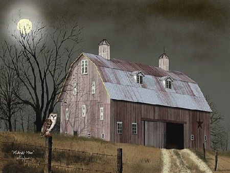 Midnight Moon Framed Print by Artist Billy Jacobs