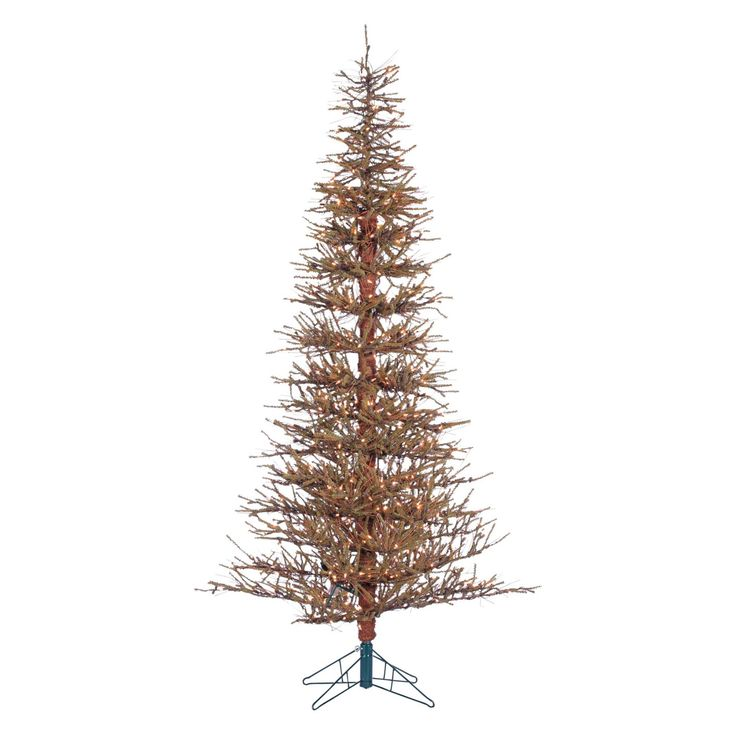 Hard Needle Slim Pre-lit Twig Christmas Tree by Sterling Tree Company - 5362--70C
