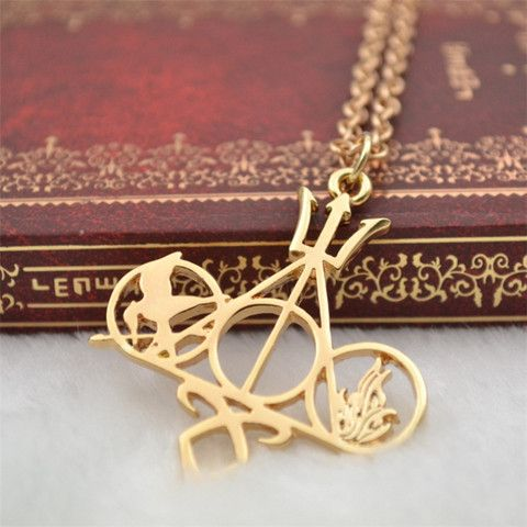 Vintage Harry Potter Inspired Deathly Hallows Necklace: This vintage necklace was inspired by the Harry Potter movies series! This necklace is fun to wear and comes in both silver and gold. You'll be the envy of all of your friends so make sure you grab them one too because it makes a great gift!