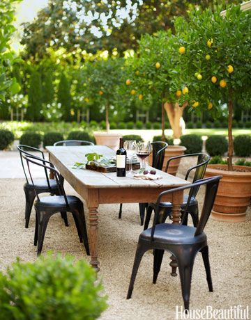 Alfresco Dining: In Monica Bhargava's California house, dinner is often served outdoors.