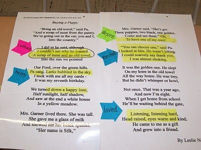 TEACHING INFERENCE WITH POETRY~  This poem by Leslie Norris is great for teaching inference.  Check out the post for more ideas!  An online version of the poem is available on Google docs, search Buying a Puppy poem.