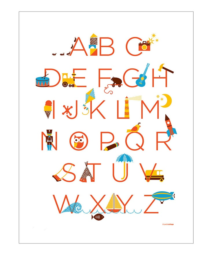 My Favorite Things ABC Poster
