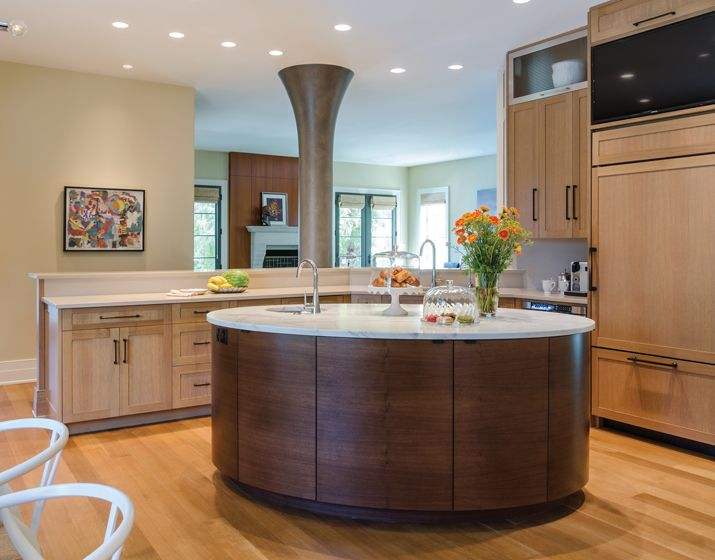 Charmant A Distinctive #oval #island, Designed By G.L. Smith And Associates,  Occupies Center. Modern Kitchen DesignsModern ...