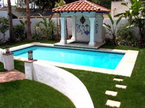 Small pool ideas google search landscape gardening for Small rectangular garden ideas