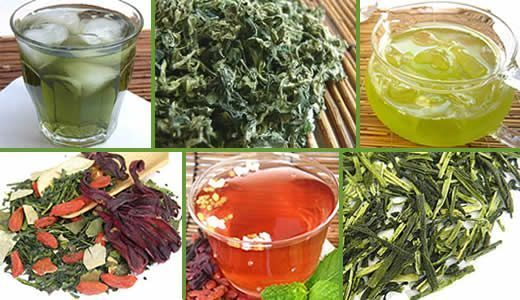 Herbs for weight loss Japanese Green Tea and traditional Kampo medicinal herbs have tons of health benefits. They have been used for losing weight for a long time in Japan. Authentic Dried Japanese Mugwort yomogi herb tea, green tea with Japanese herbal medicine kampo herb.