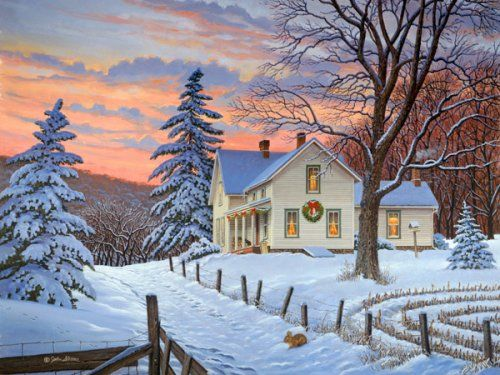 I love winter...always have. Love cold air, rain, fog and snow and the other manifestations of winter. It's the most quiet season and suited to my tendency toward quiet reflection and painting.  ;-)