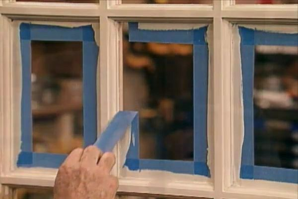 Learn how to paint window sash and door frames; includes details on masking off glass and removing excess paint on glass. #diy