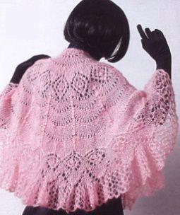 Полукруглая шаль спицами
