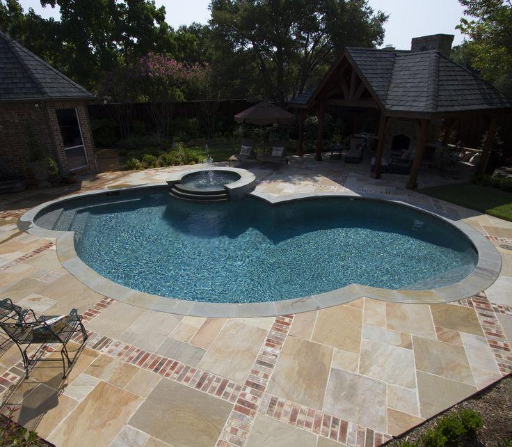 Natural Stone Harvest Pool Deck Pool Spa Stone Pavers