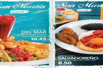 Menu de Desayunos y Almuerzos PANADERIA San Martin (Verano 2017) Me gustan y los copiare para mi Menu Diario, pero comprarlos en el Restaurante demasiado caros... No se vale....