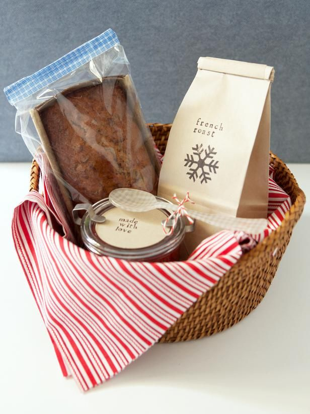 How to Make a Breakfast Gift Basket: When wrapped beautifully in a wicker basket, the most important meal of the day doubles as the perfect holiday gift.