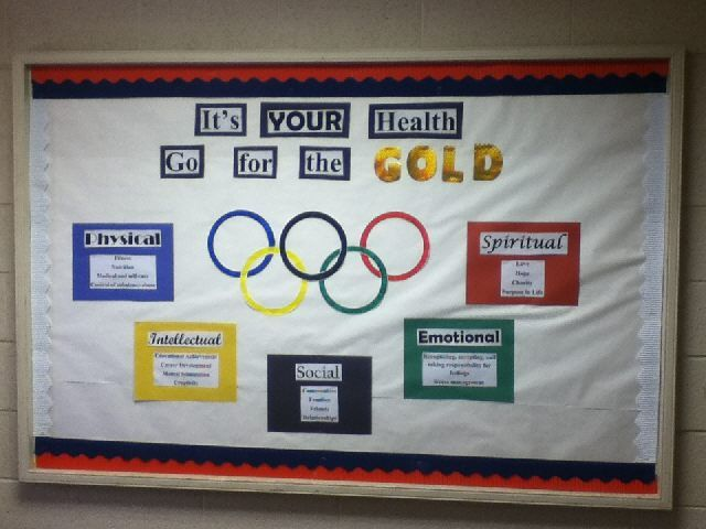 Olympian health bulletin board