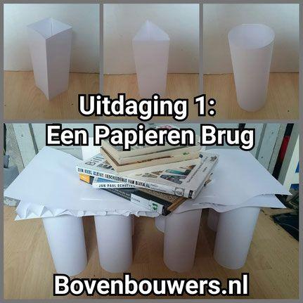 Uitdaging 1: Een Papieren Brug - Kinderboekenweek 2015 Raar maar Waar - Bovenbouwers.nl