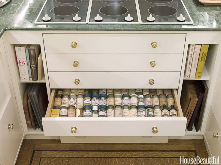 3 Genius Ideas for Maximizing Your Small Kitchen: Spices Drawers, Spices Storage, Dreams Houses, Dreams Kitchens, Kitchens Design, Kitchens Ideas, New York, Little Green Notebooks, Kitchens Storage