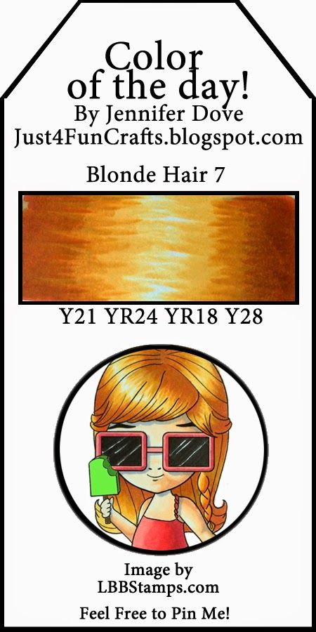 Copic Color of the Day 181 Blonde Hair 7 Just4FunCrafts and DoveArt Studios
