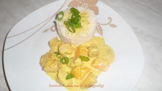 Curry-Pute mit Pfirsich