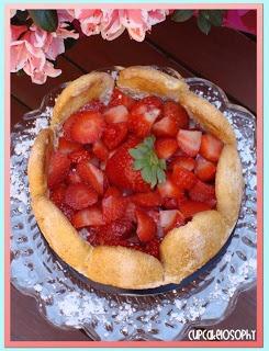 Tarta Charlota de fresas y Bavarois