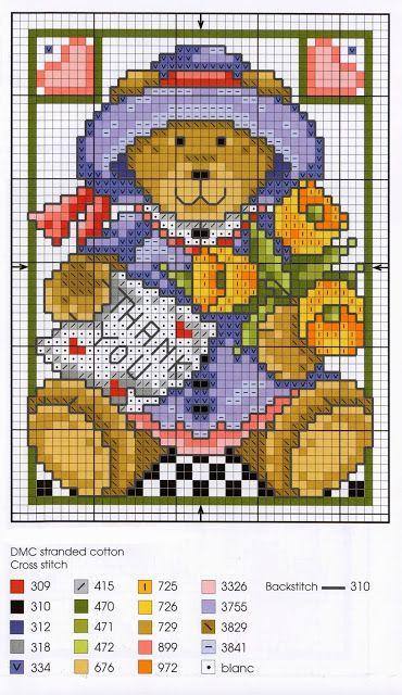 Oltre 25 fantastiche idee su orsetti per bambini su pinterest for Ricami punto croce per neonati