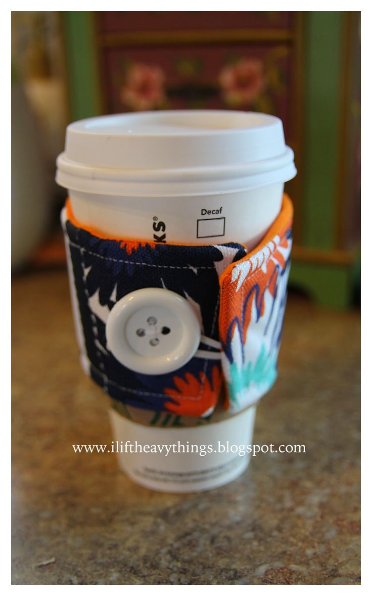 I Lift Heavy Things: @thirtyonegifts Coffee Cozy: a fun way to use my old Thirty-one swatches--I made coffee cozy's for my best customers in their favorite prints.