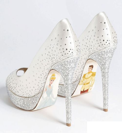 Cinderella Heels  ♥ : Make these w/o images on the bottoms