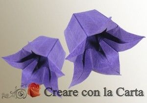 Campanula origami scopri come realizzarla con i nostri schemi http://creareconlacarta.it/campanula-origami/
