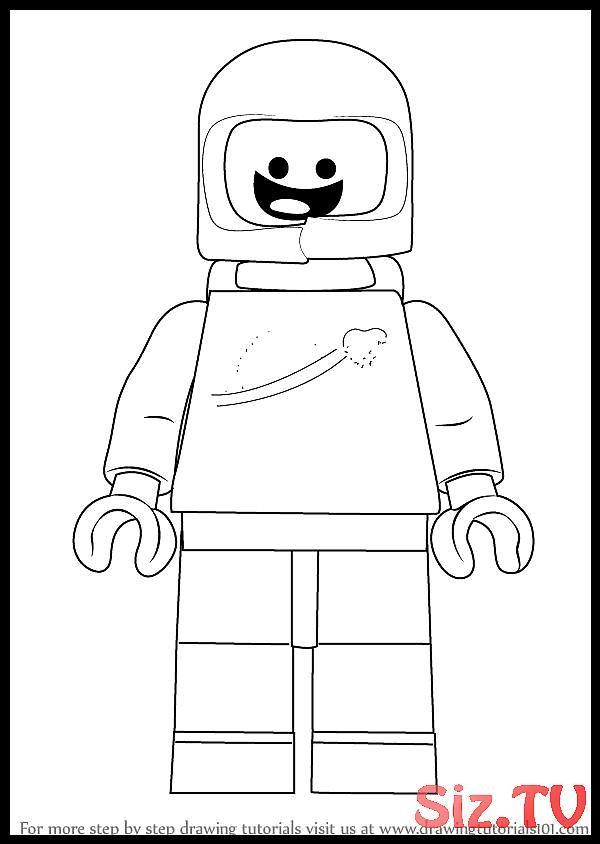 Erfahren Sie Wie Sie Benny Aus Dem Lego Film The Lego Movie Zeichnen Schritt Fur Schritt Lego Movie Coloring Pages Lego Movie Movie Character Drawings