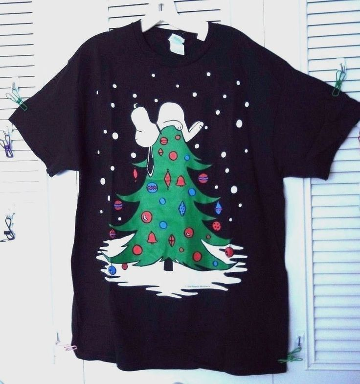 SNOOPY CHRISTMAS TREE TOPPER LICENSED PEANUTS CHRISTMAS TEE MEN'S L NEW W/TAG  | eBay