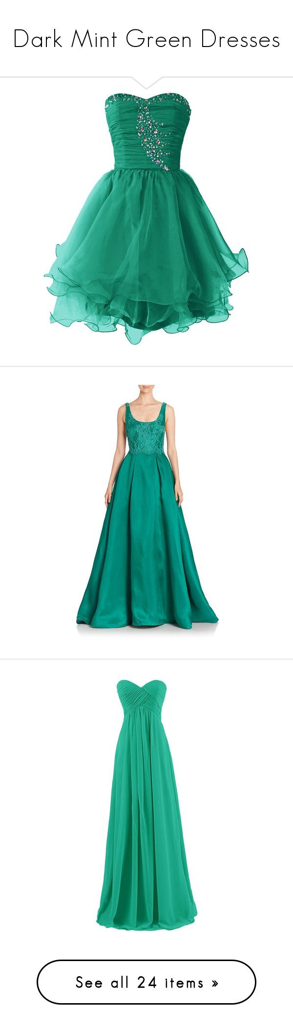 """""""Dark Mint Green Dresses"""" by tegan-b-riley on Polyvore featuring dresses, short dresses, cocktail dresses, vestidos, prom dresses, homecoming dresses, mini prom dresses, sweetheart neckline prom dresses, cocktail prom dress and gowns"""