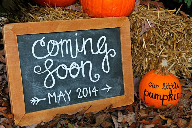 Our Little Pumpkin | Must remember this if I ever do a Fall baby announcement shoot. So cute!