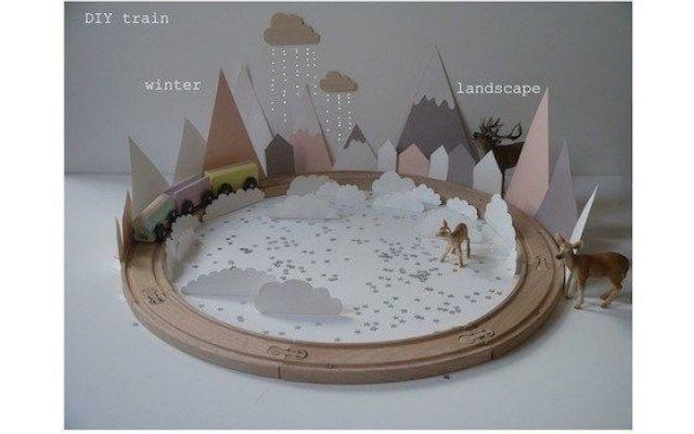 Trenino di natale fai da te e paesaggio invernale un fai - Vasetti vetro ikea ...